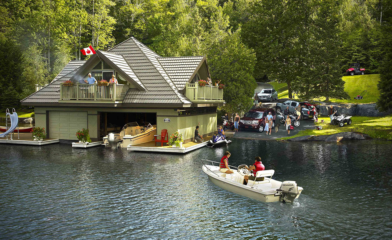 Honda World Poster Lakeside Cottage