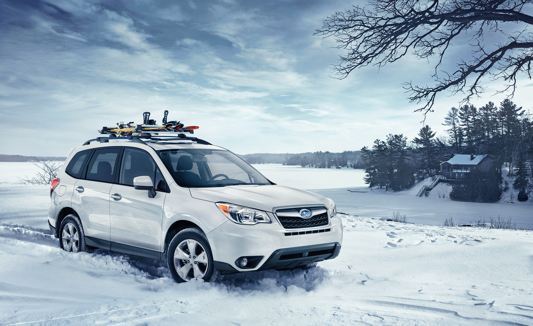 Subaru-Forester-Winter-Lake