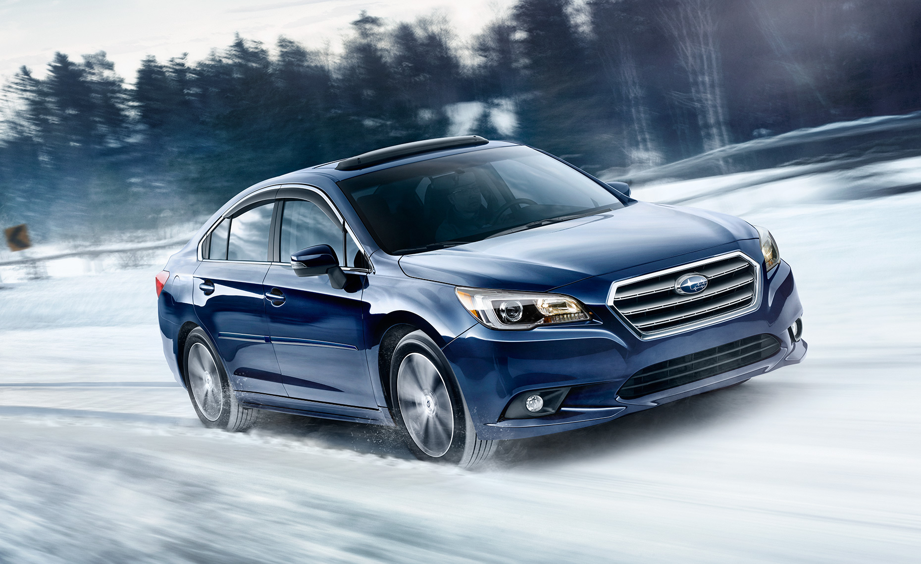 Subaru-Legacy-Snow-Action